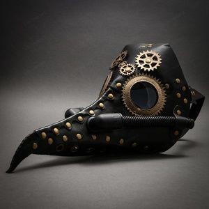Steampunk Long Nose Plague Doctor Masquerade Mask